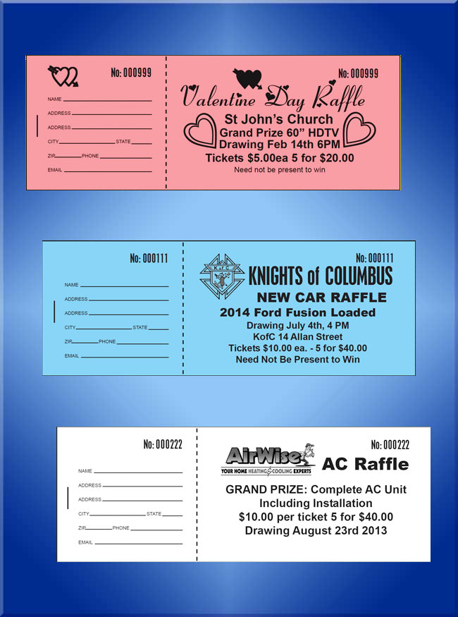 custom raffle tickets custom printed raffle tickets