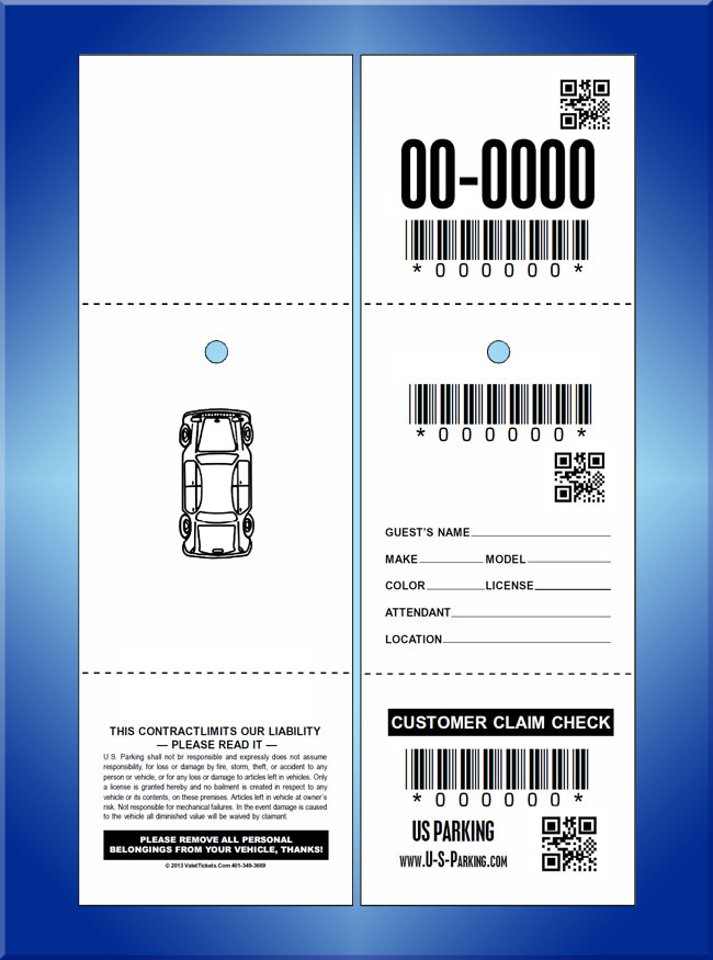 #M13USQR 3 part qr /bar code tickets