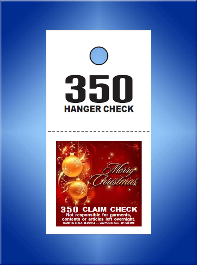#SCC2-4 Merry Christmas 2 Part Color Print Coat Check