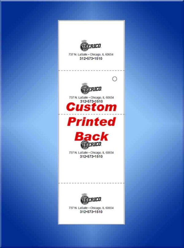 Custom Printed Backs