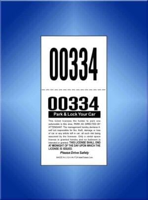 #VT2A  2-Part Color Self Parker Tickets 1,000