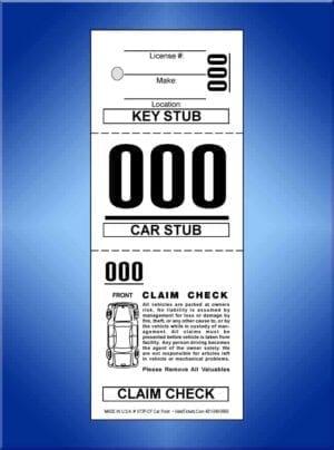 #VT3P-CF (3 Part Prestige Valet Tickets W/Cart 1,000)