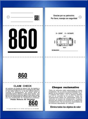 #VT4BL (4 Part Bilingual Tickets with Car Damage Diagram)