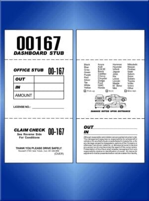 #VT3IO (3 Part In and Out Valet Ticket 1,000)