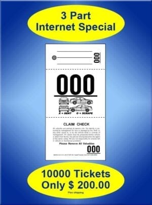 #VT3CF-IS  3Part Internet Special 10,000 Valet Tickets