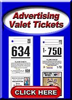 Advertising Valet Tickets