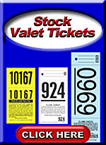 In Stock Valet Parking Tickets