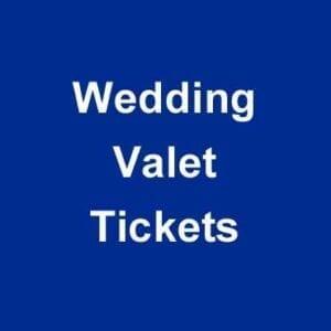 Wedding Valet Parking Tickets