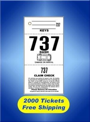 #AVT3-CF2 2,000 Tickets FREE Shipping Valet Ticket Special