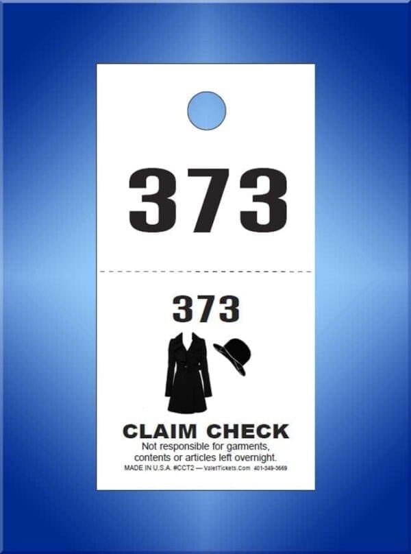 #CCT2A                           1,000 - 2 Part Coat Checks