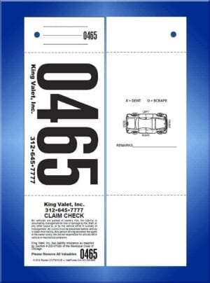 #CCVT3CG-CB      3 Pt Chicago Code Giant No. Valet Ticket W/Car