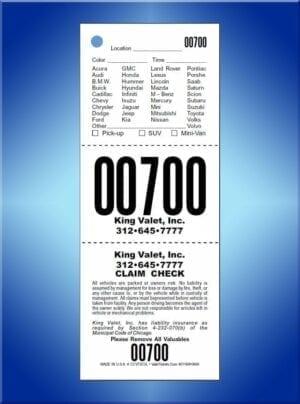 #CCVT3CVL        3 Part Chicago Code Vehicle List Valet Tickets