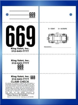 #CCVT4C-CB                  4 Part Chicago Code Valet Ticket CB