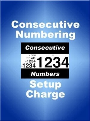 Consecutive Number Fee