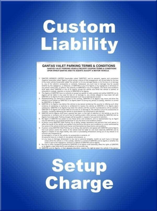 Custom Liability Claim Setup Fee