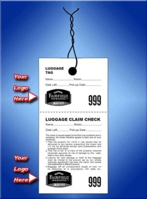 #LT2C-2  2 Part Custom Luggage Claim Checks