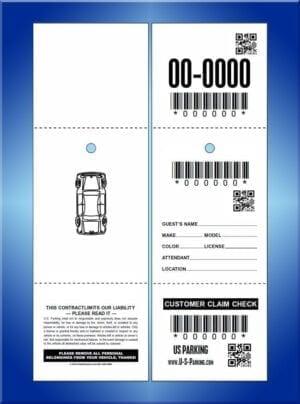 #M13USQR 3 part qr /bar code tickets