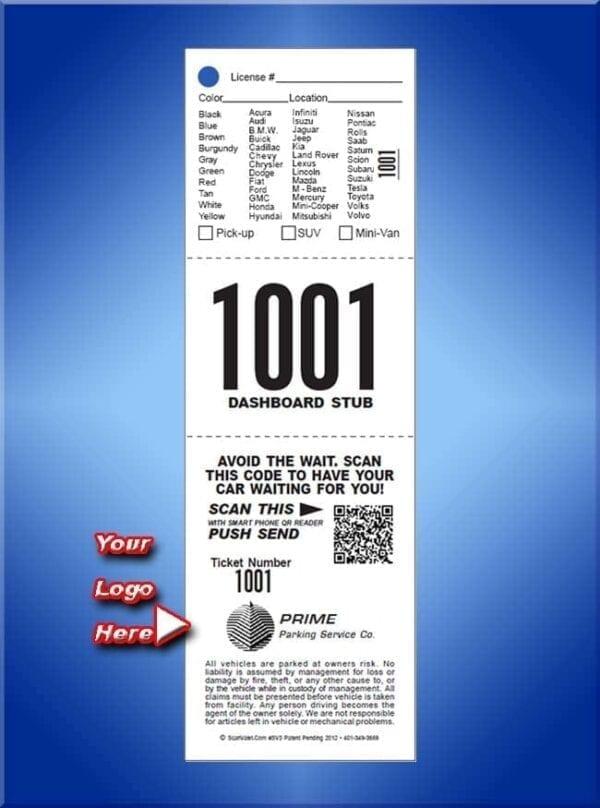 #SV3                     3 Part Custom Ticket with QR Scan Code