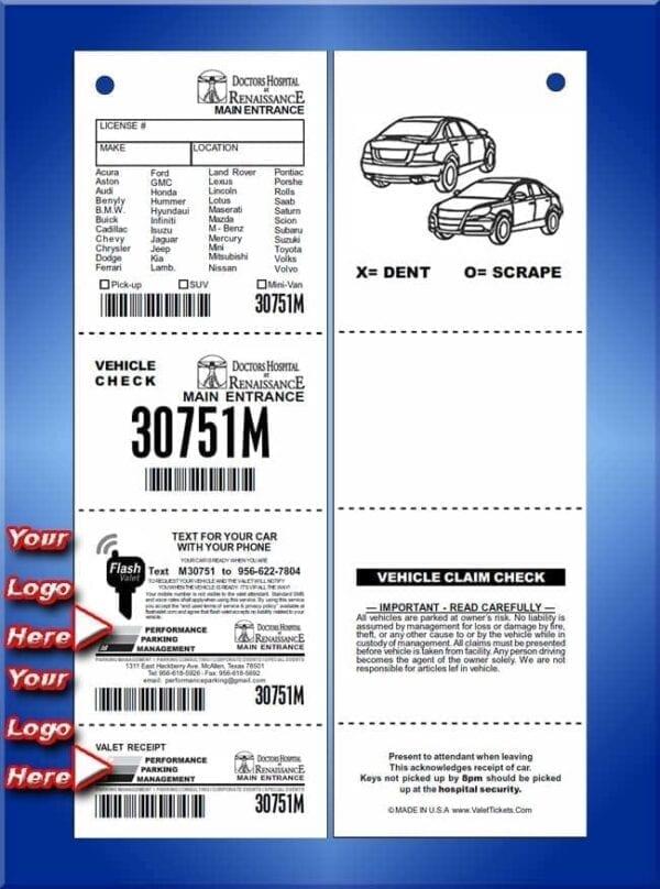 #SVFV4C2_2                      4 Part Flash Valet Custom Tickets