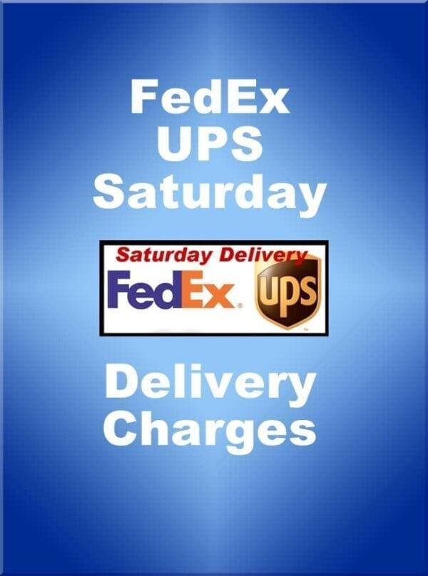 UPS Additional Saturday Delivery Fee