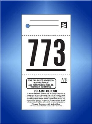 #TVT3C                        3 Part Preprinted Texting Tickets