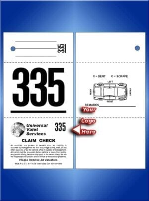 #VT3C-CB 3 Part Custom Tickets - Car Diagram Back 1,000