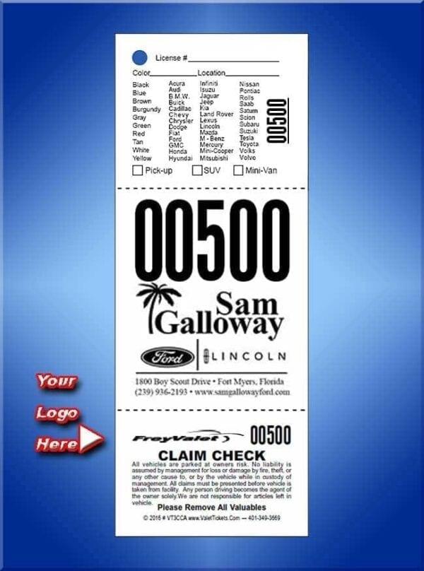 #VT3CA       3 Part Custom Advertising Tickets Black Print Only