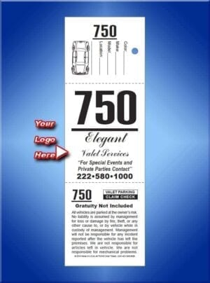 #VT3CKD 3 Part Custom Ticket with large dashboard stub 1,000