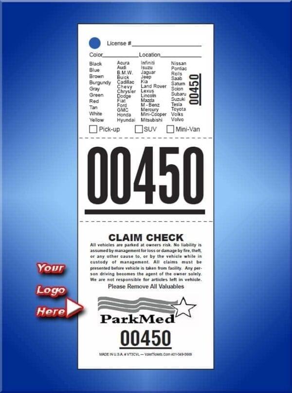 #VT3CVL     3 Part Custom Vehicle List Ticket 1,000