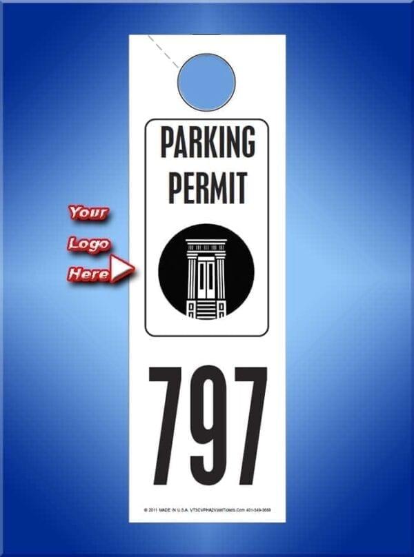 #VT3CVPHA2                      Custom Parking Permit With Logo