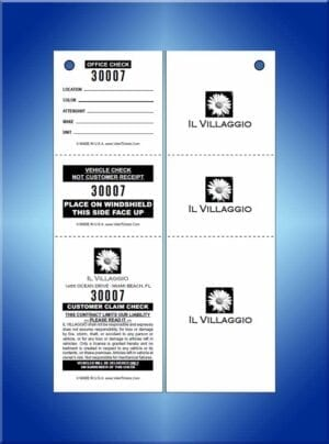 #VT3ILVUSP 2 sided 3 part custom tickets IL Villagio