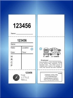 #VT3PC-CB2 Little Nell 3 Part Valet Tickets