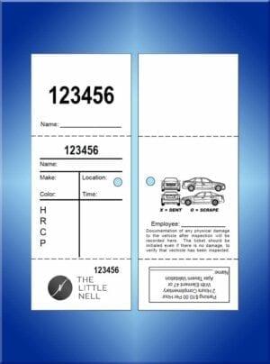 #VT3PC-CB2 Little Nell 3 Part Valet Tickets