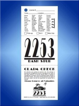 #VT3VLAD (3 Part Art Deco Vehicle List Valet Tickets 1,000)