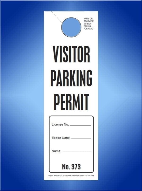 #VT3VPHA1                     Parking Permit with Notation Area