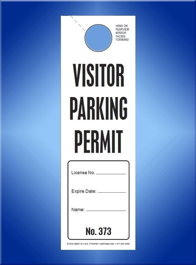 Temporary Handicapped Parking Permit Hang Tag - Blue ...