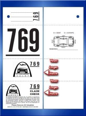 #VT4C-CB  4 Part Custom Printed Tickets - Car Back 1,000