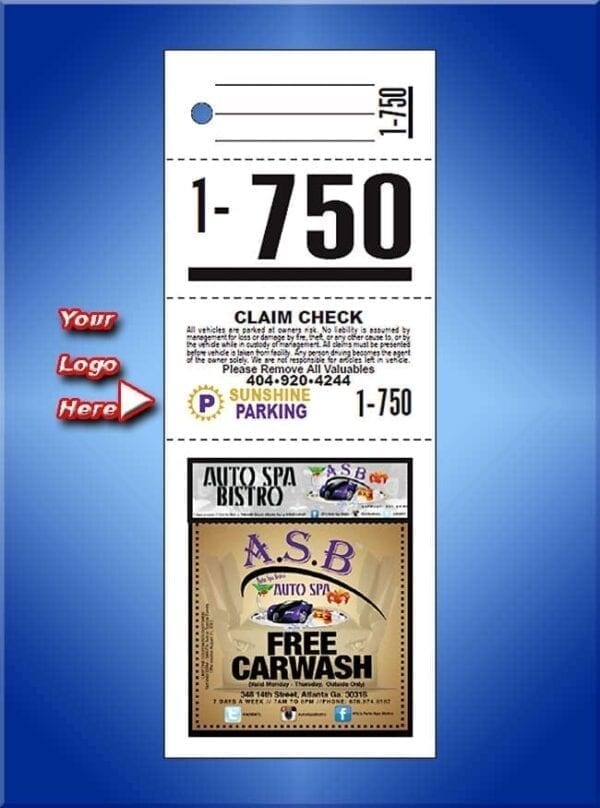 #VT4CCLAD               4 Part Custom Color Advertising Tickets