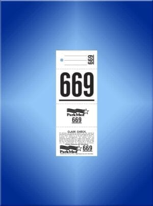#VT4CPM (4 PART VALET TICKET W-PHONE # & LOGO)