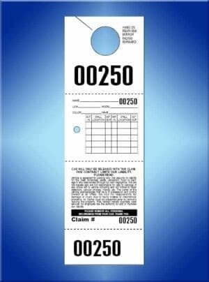 #VT4-HHO (4 part hanging valet tickets 1,000)