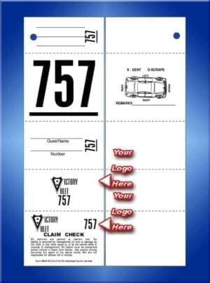 #VT5C-CB 5 Part Custom Tickets W/Car Diagram Back 1,000