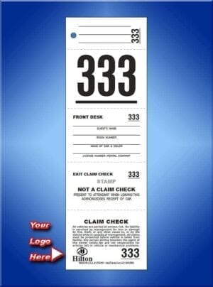 #VT5CHO 5 Part Custom Printed Hotel Ticket 1,000