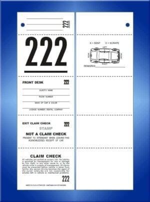 #VT5HO-CB (5 Part Std Hotel Ticket with Car Diagram Back 1,000)