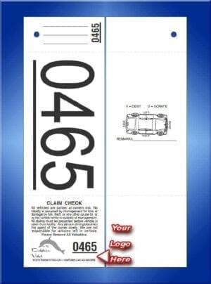 #VT3GC-CB   3 Part Custom Giant Number Tickets - Car Back 1,000