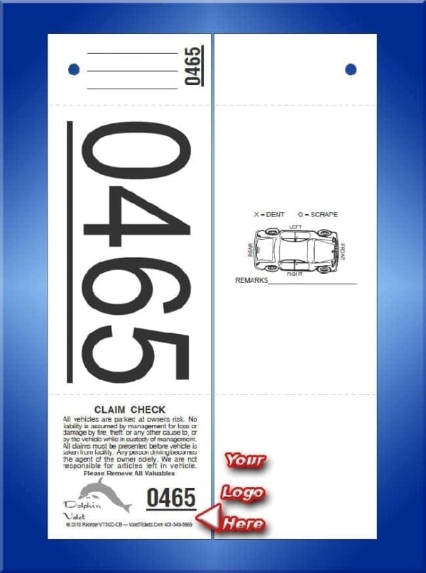 #VT3GC-CB   3 Part Custom Giant Number Tickets - Car Back 1,000