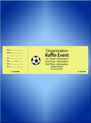 Raffle Tickets Jumbo Black Ink - 8.5 x 2.75 Design Your Own